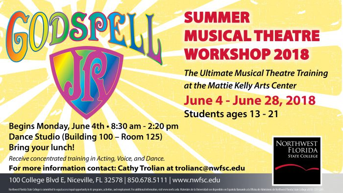 GodSpell Summer Musical Theatre Workshop 2018