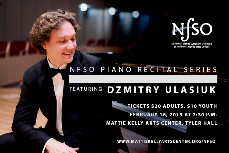NFSO Piano Recital Series Welcomes Dzmitry Ulasiuk
