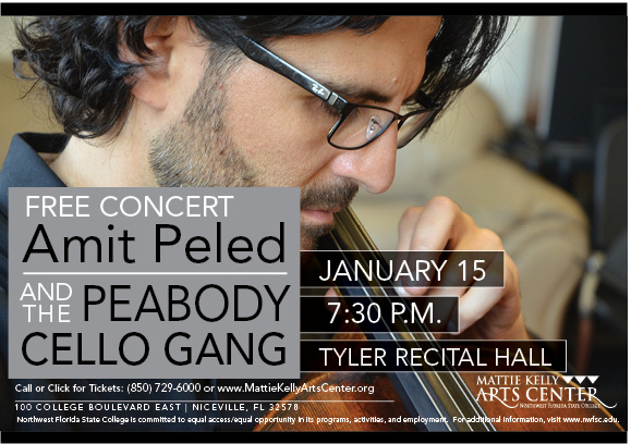 Grammy Nominated Cellist, Amit Peled and the Peabody Cello Gang Free Concert