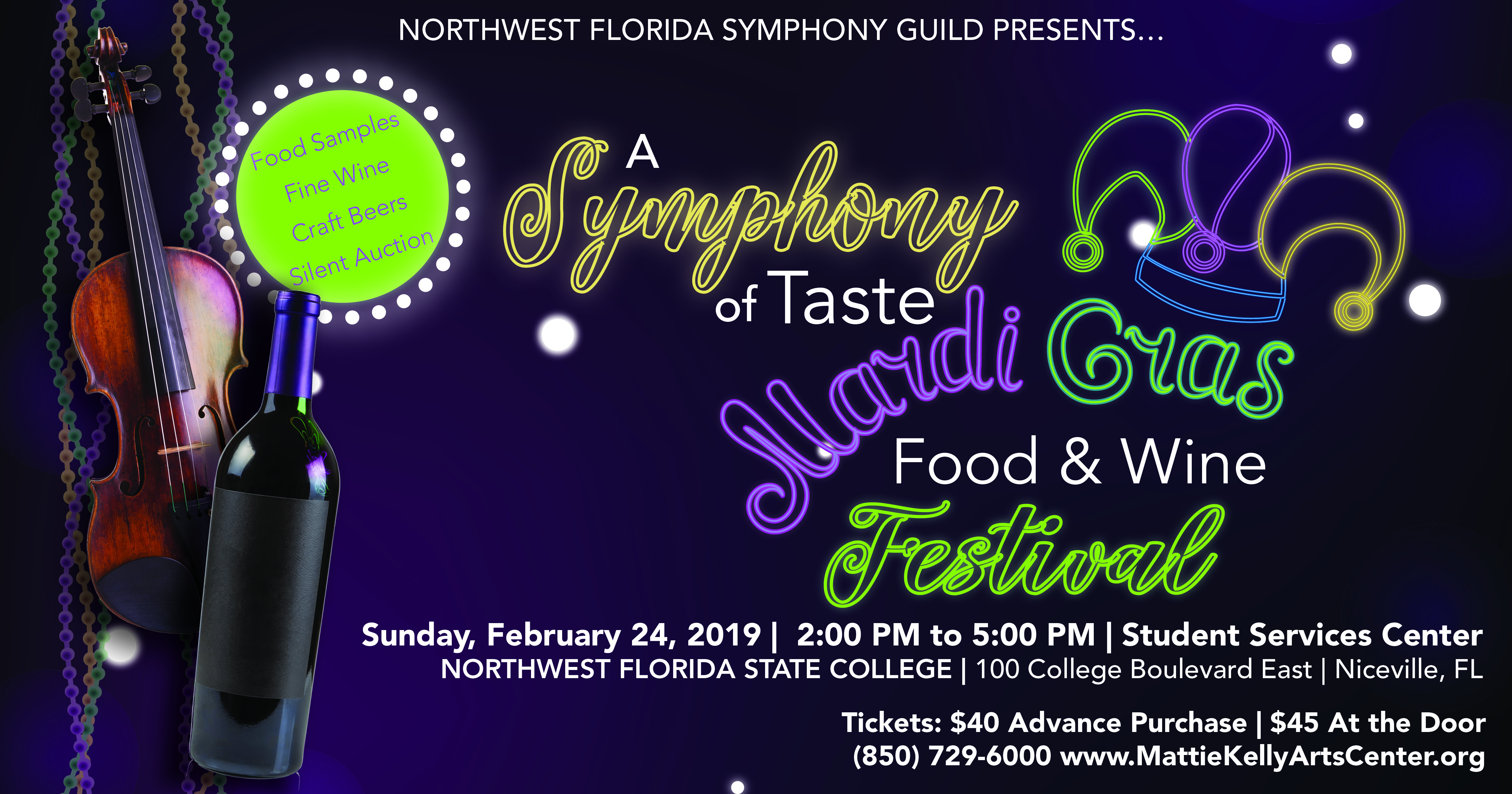 2019 NFSO Symphony of Taste Advertisement