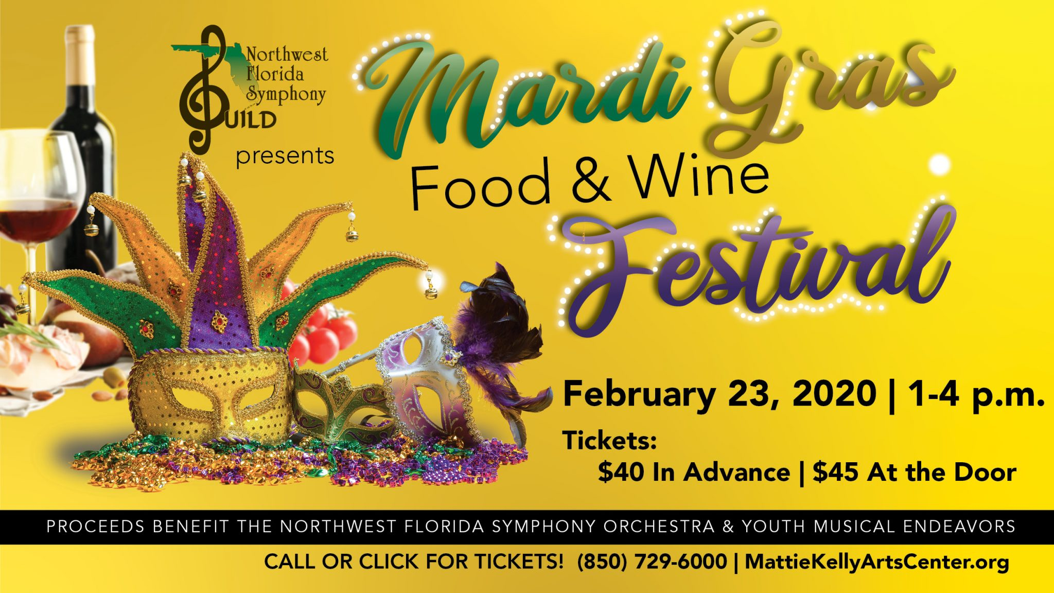 2020 Mardi Gras Food & Wine Festival hosted by Northwest Florida Symphony Guild