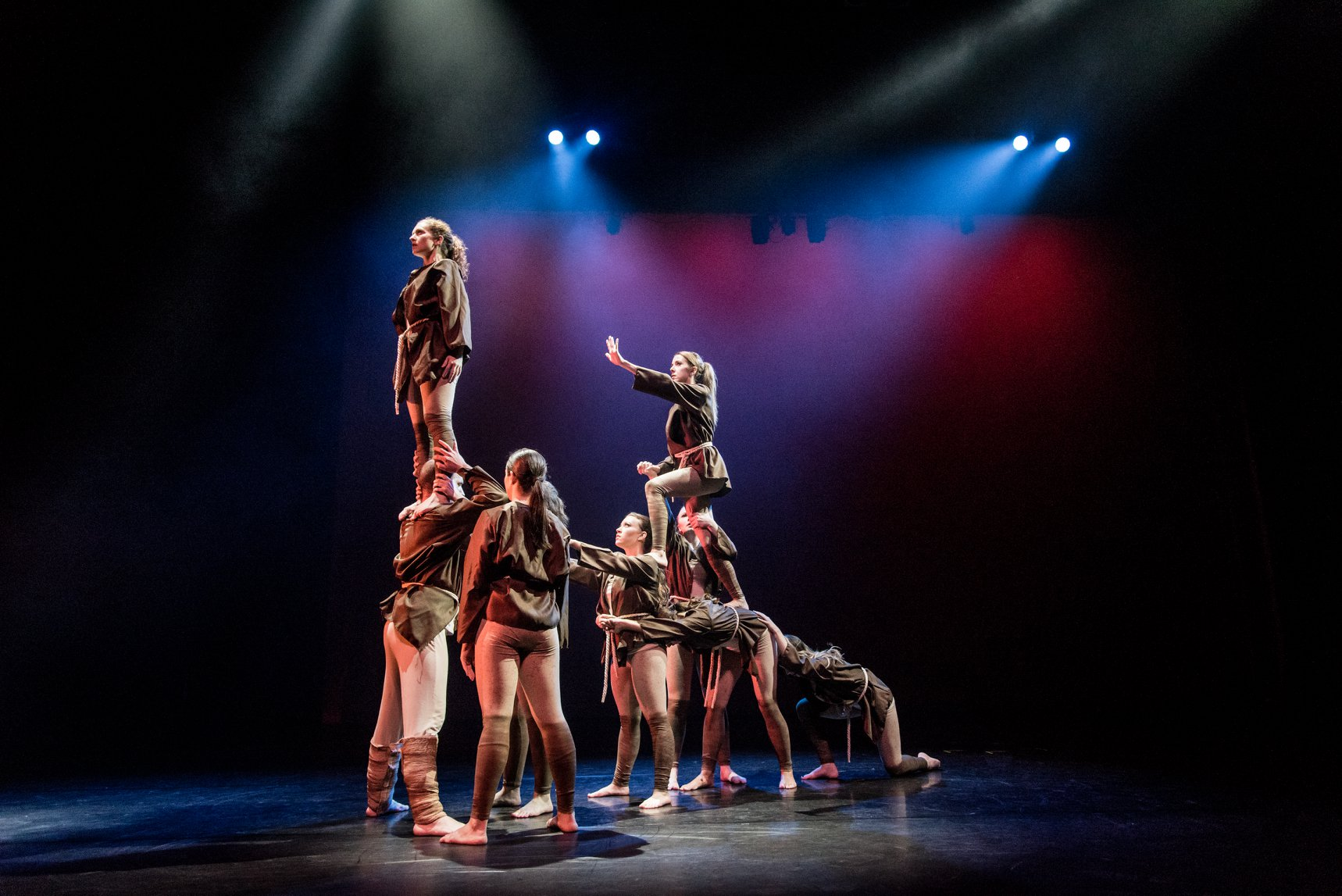 Dancers from the Northwest Florida State College Department of Dance perform a choreographed routine at the Mainstage theater of the Mattie Kelly Arts Center