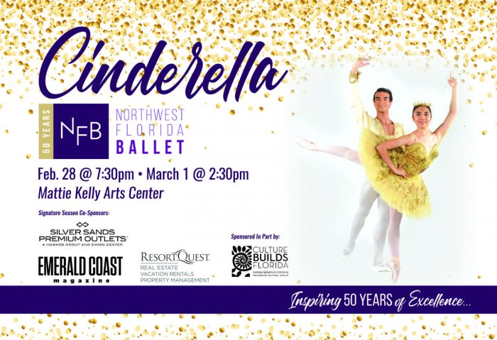 Northwest Florida Ballet and MKAC present Cinderella, February 28 at 7:30 p.m. and March 1 at 2:30 p.m.